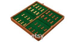 Série de voyage Folding Magnetic Chess Set dans le bois de Shesham Boîte 12 pouces de l'Inde. SKU S1208