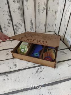 Settlers of Catan, Customized Catan Game Board, Catan Board 2-4 Player, 5-6 Players Wood Settlers of Catan, Custom Game Board atan,