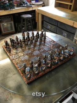 Simple jeu d échecs Steampunk