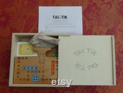 TAC TIK dans une boite en bois, jeu de société ,2,4,6 jusqu'à 8 joueurs