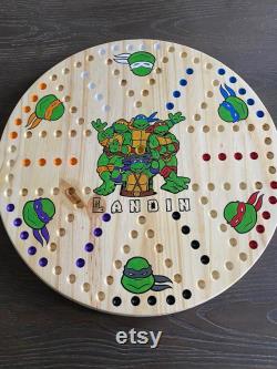 Teenage Mutant Ninja Turtles 2 faced AGGRAVATION 6 joueur TMNT Chinese Checkers