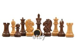 The Bridle Series Weighted Chess Pieces in Sheesham and Box Wood 3.0 King SKU M0012