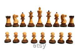 The Parker Boxwood Burnt 3.75 King luxury wood chess set chess pieces staunton chess pieces -The Chess Empire
