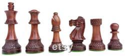 The Parker Burnt Series pièces d échecs de luxe Ensemble Échiquiers sculptés à la main Burnt and Painted King 3.7 Meilleur cadeau