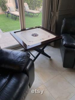 The Prince of Arabia Deluxe Tournament Carrom Board avec Surface Acrylique