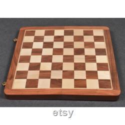 Travel Chess Set comprend des pièces d échecs magnétiques en bois table pliante en bois de rose doré