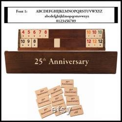 VIP Straight Rummy Set ( fr) Ensemble de jeu personnalisé Straight Rummy Cube Cadeau pour le père