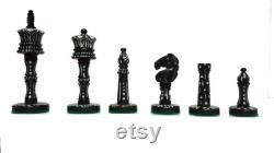 Victorian Era Pre Staunton Chess Pieces Only Camel Bone Chessmen pièces d échecs de luxe 3.6 King