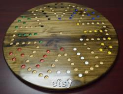 Wahoo Aggravation Marbles Large 18 4 6 Player Double Sided Game Board avec marbres de 18 mm