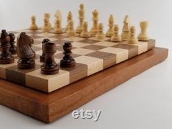 Wood Chess Board, Chess Set, Jeu, Anniversaire, Cadeau, Personnalisé, Père, Jeux, Puzzle