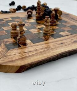 échiquier, échiquier en bois, jeu d échecs, échiquier en bois, cadeau d anniversaire, cadeau pour lui, cadeau pour elle, cadeau de mariage