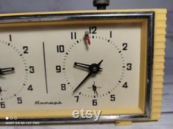 horloge vintage DU tournoi CHESS. L URSS soviétique Jantar. Horloge mécanique. cadeau vintage.