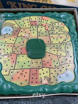 vintage 1974 King Oil Board jeu Milton Bradley Complete