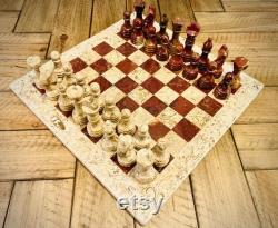 vintage Marble Chess Set 12